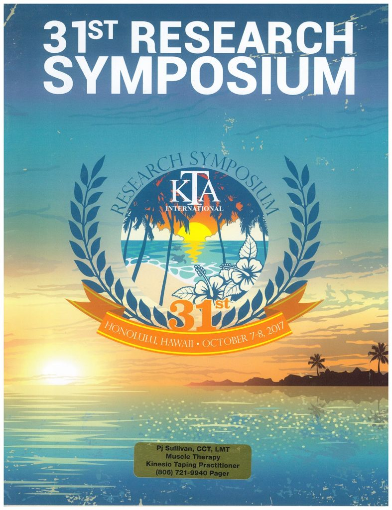 Kinesio 31st Research Symposium